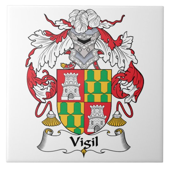 Vigil Family Crest Tile Zazzle
