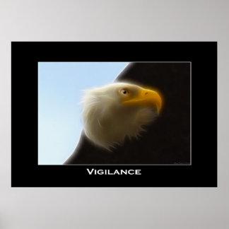 VIGILANCE Bald Eagle Art Poster