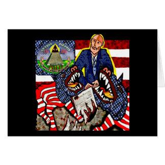 Vigilance & Liberty Greeting Card