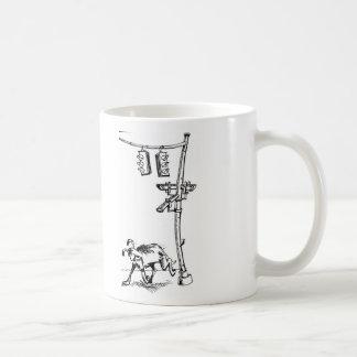 vigilancia del perro tazas de café