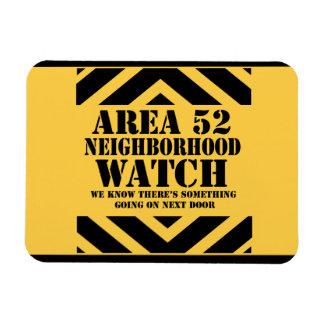 Vigilancia vecinal del área 52 iman rectangular