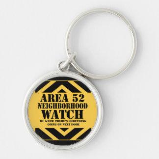 Vigilancia vecinal del área 52 llavero personalizado