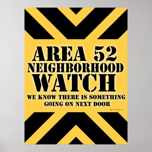 Vigilancia vecinal del área 52 poster