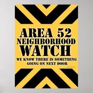 Vigilancia vecinal del área 52 póster