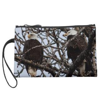 Vigilant Bald Eagles Wristlet Clutch