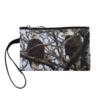 Vigilant Bald Eagles Change Purse