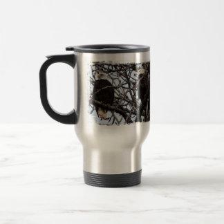 Vigilant Bald Eagles Travel Mug