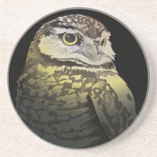 Vigilant Digital Owl Drink Coaster