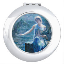 Vigilant Valkyrie in Blue Travel Mirrors