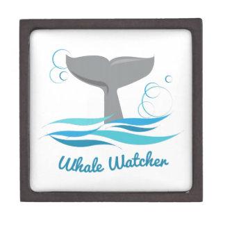 Vigilante de la ballena caja de recuerdo de calidad