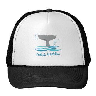 Vigilante de la ballena gorros bordados