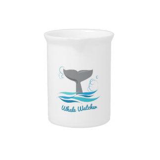 Vigilante de la ballena jarra para bebida