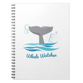 Vigilante de la ballena libro de apuntes con espiral
