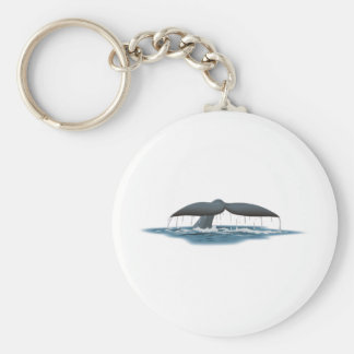 Vigilante de la ballena llavero redondo tipo pin