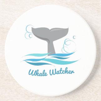 Vigilante de la ballena posavasos personalizados