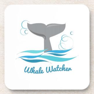 Vigilante de la ballena posavasos de bebidas