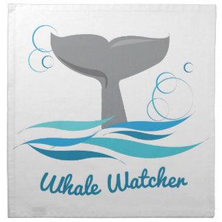 Vigilante de la ballena servilletas de papel