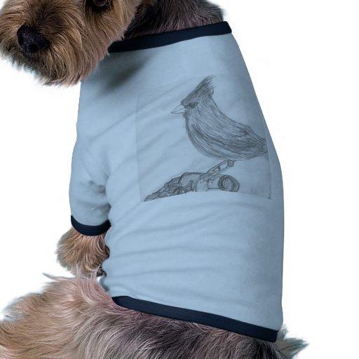 Vigilante de pájaro camiseta con mangas para perro