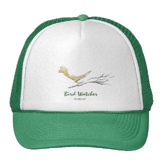 Vigilante de pájaro gorros bordados