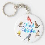 Vigilante de pájaro llavero personalizado