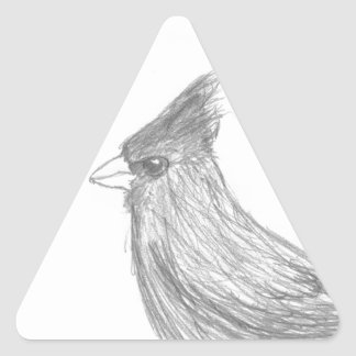 Vigilante de pájaro pegatina triangular
