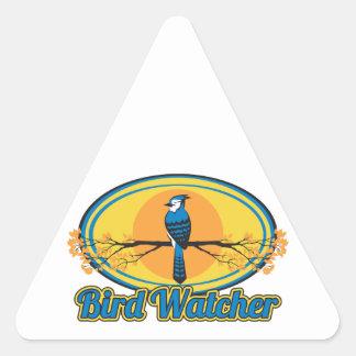 Vigilante de pájaro calcomania de trianguladas
