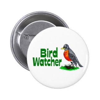 Vigilante de pájaro pin redondo 5 cm