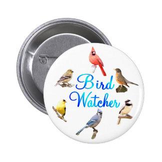 Vigilante de pájaro pin redondo de 2 pulgadas