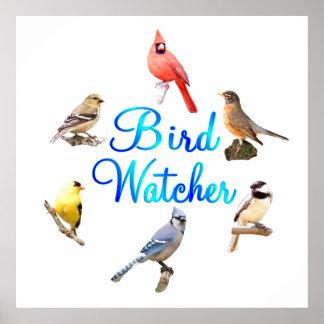 Vigilante de pájaro póster