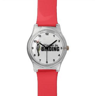 Vigilante de pájaro relojes de pulsera