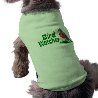 Vigilante de pájaro camisa de perrito