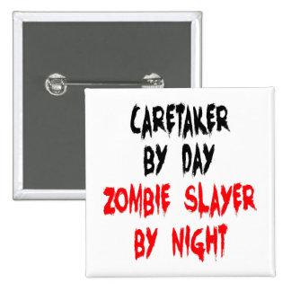 Vigilante del asesino del zombi pin cuadrado
