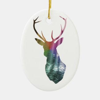 Vigilante del bosque adorno ovalado de cerámica