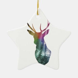 Vigilante del bosque adorno de cerámica en forma de estrella
