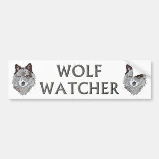 vigilante del lobo pegatina de parachoque