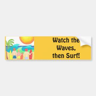 Vigilantes de la onda pegatina para auto