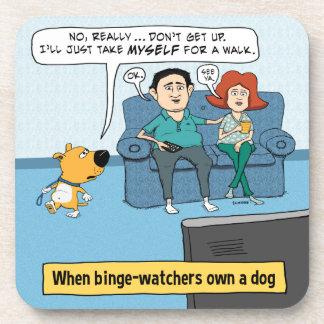 Vigilantes divertidos del Binge y su perro Posavasos De Bebidas