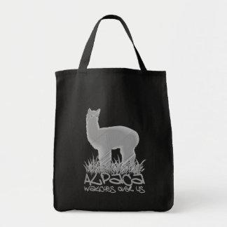 Vigilar de la alpaca nosotros bolsa tela para la compra