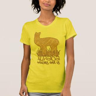 Vigilar de la alpaca nosotros camisetas