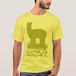 Vigilar de la alpaca nosotros playera
