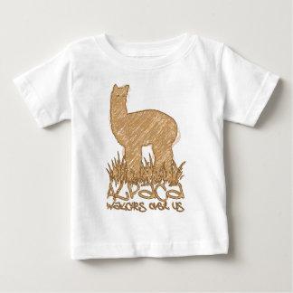 Vigilar de la alpaca nosotros playera de bebé