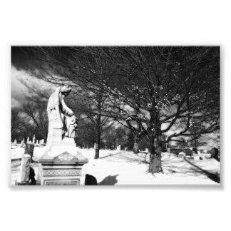 Vigilar del ángel la impresión de la foto del ceme