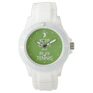 Vigile el personalizado del tenis de la calma y reloj de mano