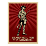 Vigilia del soporte poster