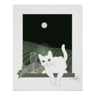 Vigne, Clair de Lune y charla Blanc Poster