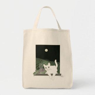 Vigne, Clair de Lune y la charla Blanc (gato Bolsa Tela Para La Compra