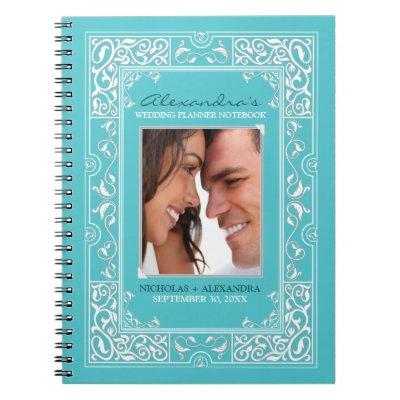 Vignette Brides Wedding Planner Notebook Navy