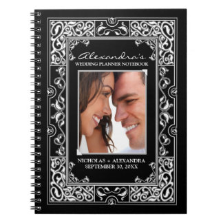 Vignette Bride's Wedding Planner Notebook (black)