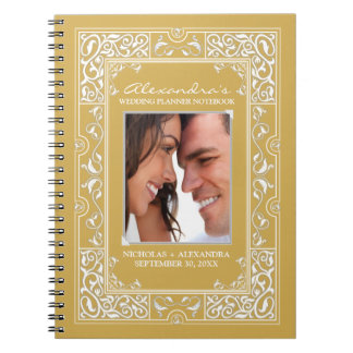 Vignette Bride's Wedding Planner Notebook (gold)