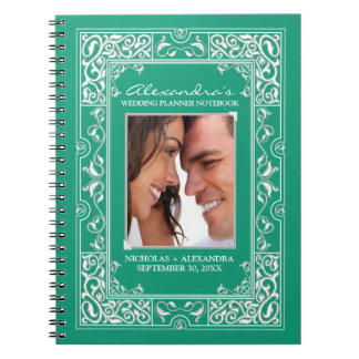 Vignette Bride's Wedding Planner Notebook (green)